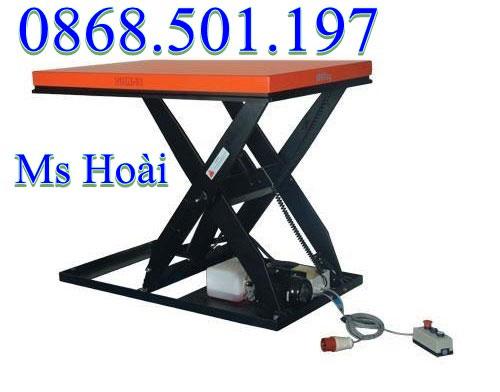 bàn nâng điện 1 tấn