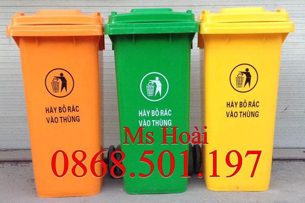 thùng rác nhựa công cộng 120l HPDE