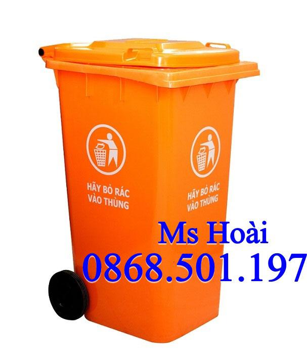 thùng rác nhựa công cộng 120l HDPE