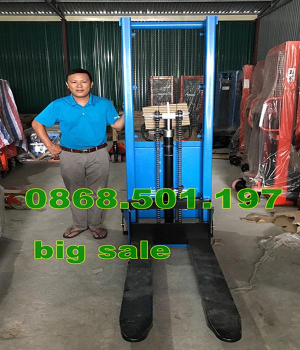 xe nâng bán tự động 1 tấn, 1.5 tấn, 2 tấn