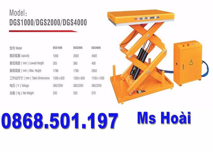 bàn nâng điện thủy lực 1 tấn