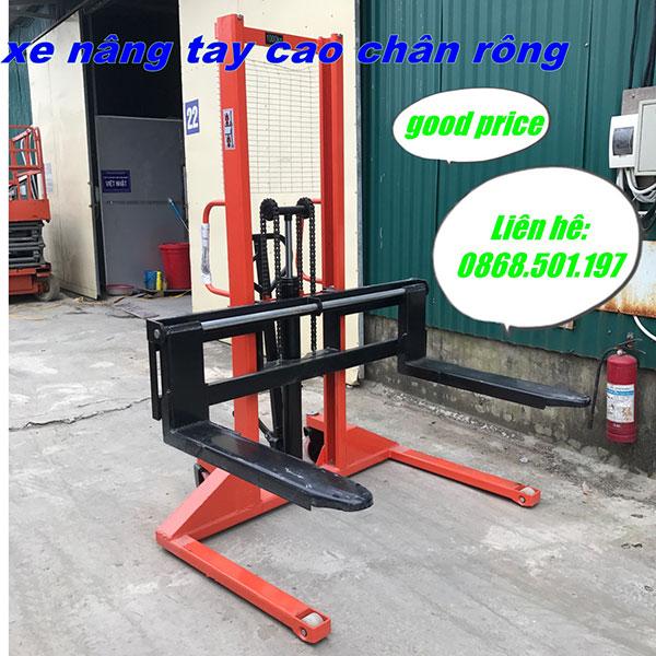 Xe Nâng Tay Cao Chân Rộng