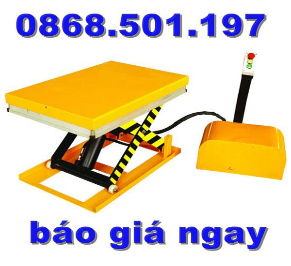 bàn nâng điện 1 tấn cao 1m