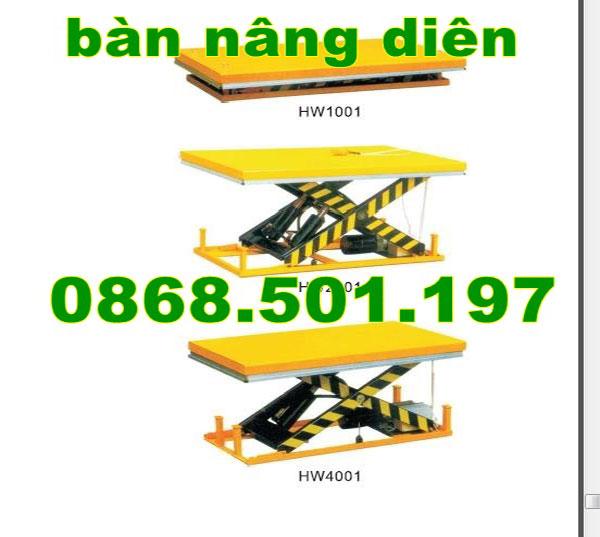 giá bàn nâng điện