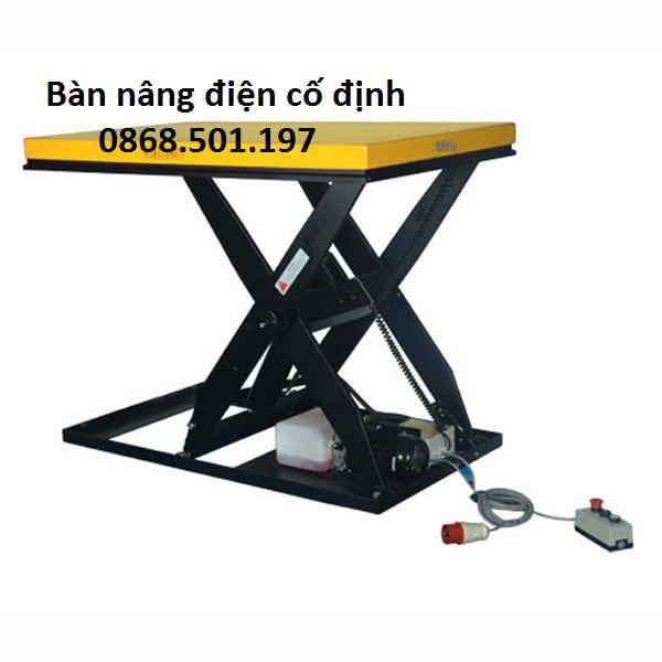 Bàn Nâng điện Cố định Nhập Khẩu Giá Rẻ 1000kg, 2 Tấn